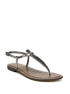 b25fe7fd04d QUICK VIEW. Sam Edelman. Gigi Embossed Leather Thong Sandals