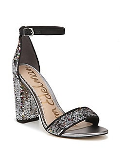 f4a572a7db4c QUICK VIEW. Sam Edelman. Yaro Embellished Leather Ankle-Strap Sandals