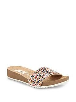 ab3e41d336732 QUICK VIEW. Anne Klein. Qtee Wedge Slide Sandals