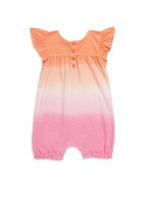 Baby Girl's Dip-Dye Romper...