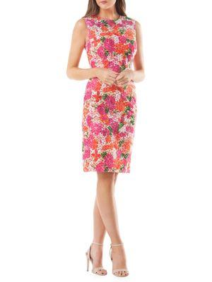 Sleeveless Floral Cocktail Dress 500088286423