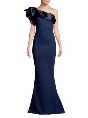 One-Shoulder Mermaid Gown 500088287692