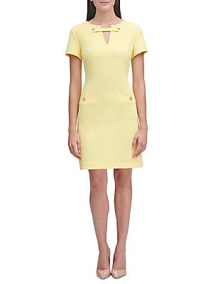 Scuba Crepe Pocket Dress by Tommy Hilfiger