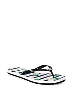 c7027165adc4 Striped Pineapple Flip Flops BLACK. QUICK VIEW. Product image. QUICK VIEW. Kate  Spade New York