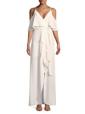 Ruffled Cold-Shoulder Dress 500088294950