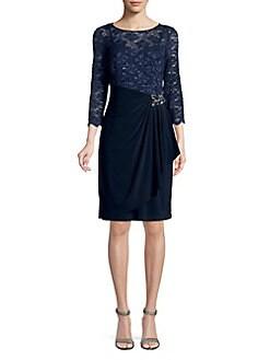 71b2b72364f QUICK VIEW. Alex Evenings. Lace Shift Dress