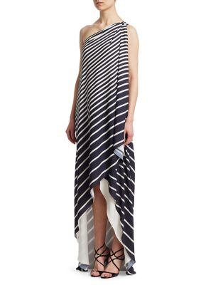 One Shoulder Wrap Dress 500088295259