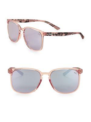 57MM Square Mirrored Sunglasses 500088296964
