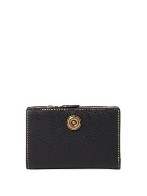 Compact Pebbled Leather Wallet 500088300948