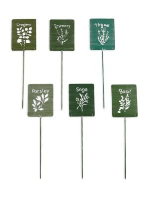 Set of Six Herb Markers...
