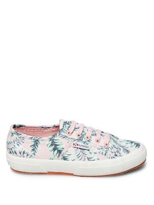 Superga FANTASY PALM PRINT CANVAS SNEAKERS