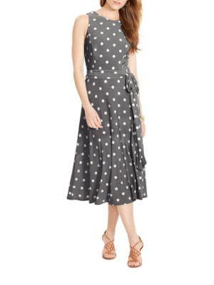 Polka-Dot Crewneck Dress by Lauren Ralph Lauren