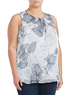 c7ba8a1c61 QUICK VIEW. Vince Camuto. Plus Floral Etched Sleeveless Top