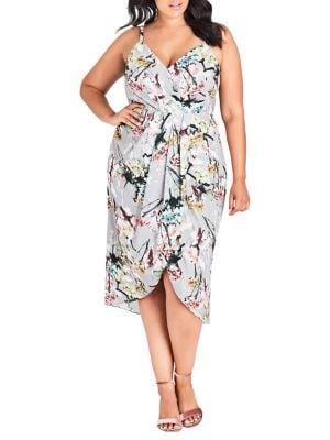ac0b44362b3 City Chic - Plus Romantic Bouquet Midi Dress