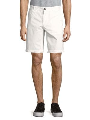 Flat-Front Cotton Shorts...