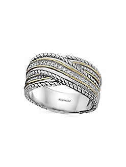 1d91e699731587 Product image. QUICK VIEW. Effy. Diamond and Sterling Silver Wrap Ring