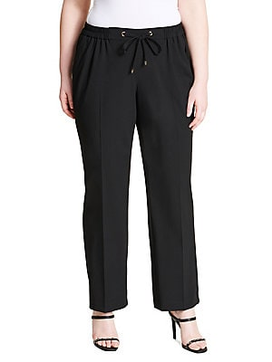 beb8881eb0b Calvin Klein - Tie-Waist Dress Pants