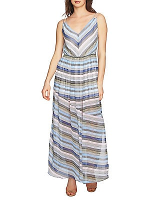 Cynthia Steffe - Jordan V-Neck Striped Maxi Dress 66d7ca9e9