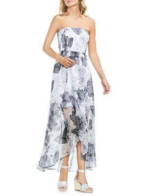 Amalfi Breeze Smocked Bodice Floral Dress