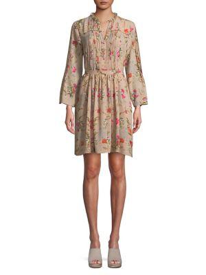 Floral Long-Sleeve Dress...