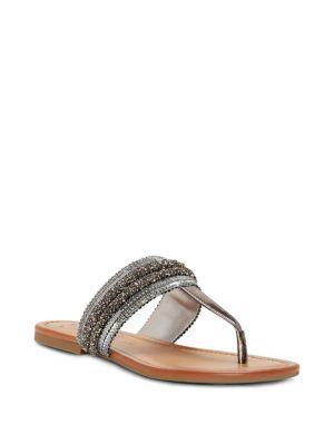 Kina Metallic Thong Sandals 500088349837