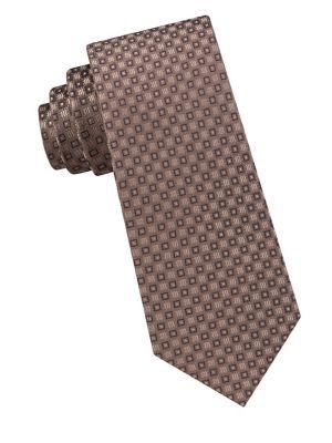 Neat Square Silk Tie...