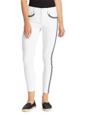 Striped Skinny Jeans 500088351904