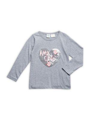 Little Girl's Sequin-Embellished...