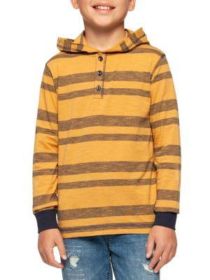 Boy's Stripe Buttoned...