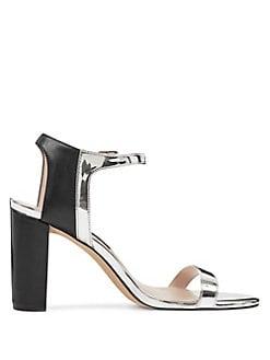 77172334bdc QUICK VIEW. Nine West. Nemble Metallic Ankle-Strap Sandals