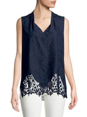 Daria Lace Inset Blouse...