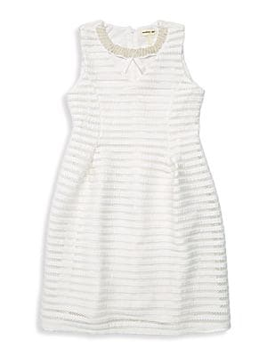 Girl's Striped Fit-&-Flare...