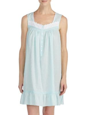 Sleeveless Lace-Trimmed...
