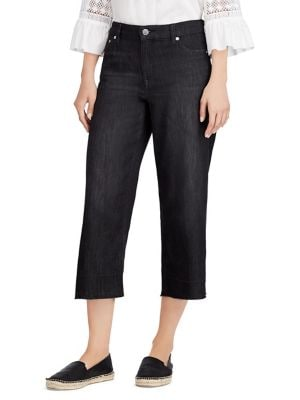 Frayed Wide-Leg Ankle Jeans 500088383541