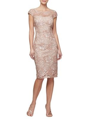 Plus Embroidered Shift Dress 500088387830