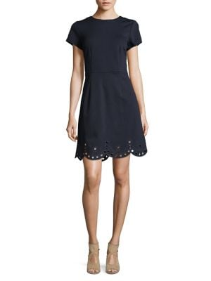 Embroidered Short-Sleeve Dress 500088387961