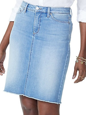1a868d1836 NYDJ - Frayed Hem Denim Skirt - lordandtaylor.com