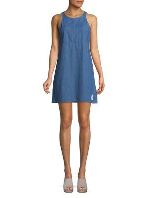 Classic Sleeveless Denim Dress 500088390478
