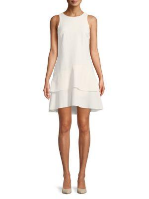 Ruffled Roundneck Dress 500088392623