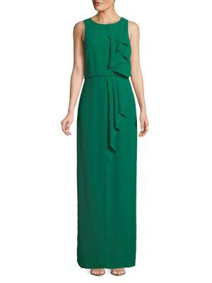 Solid Ruffled Dress @...