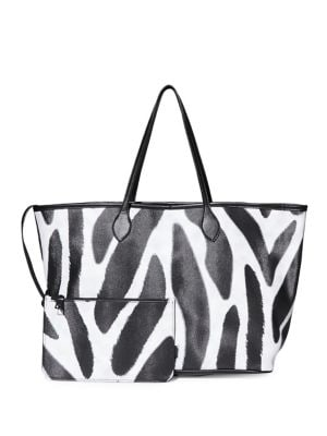 Patterned East-West Tote...