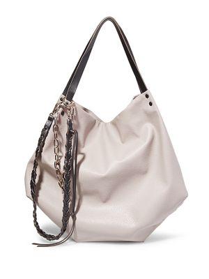 Chain-Trim Hobo Bag @...