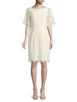 f25c4dc71e579 QUICK VIEW. Adrianna Papell. Plus Short-Sleeve Lace Dress