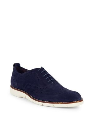 Brogue Suede Oxfords...