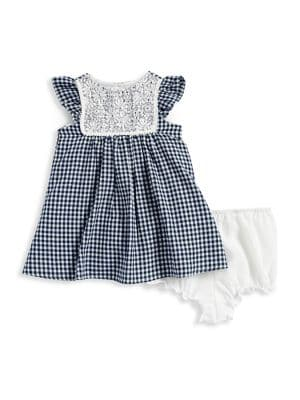 Baby Girls Gingham Flutter Sleeve Dress and Bloomer Set