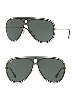 7bee44aa9a 132MM Aviator Shield Sunglasses DARK GREEN. QUICK VIEW. Product image