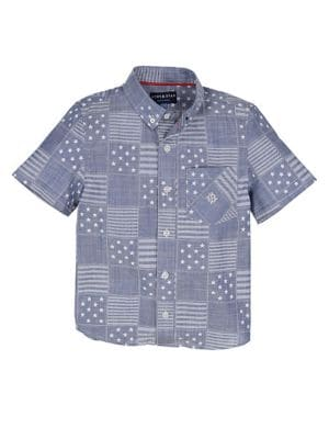 Image of Little Boys' All American Patchwork Shirt