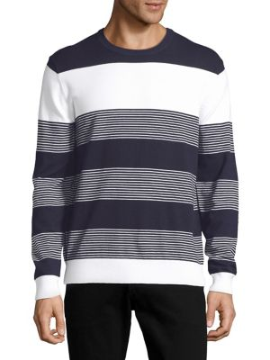 Striped Ribbed Sweater...
