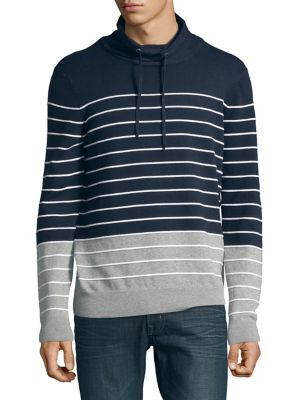 Striped Drawstring Sweater...