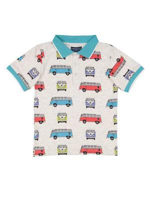Boy's Vintage Van Graphic Polo 500088412878